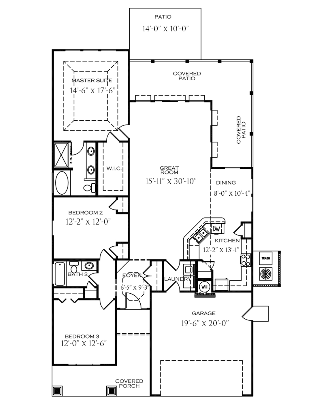 The floor plan of The Folly house layout at Stone Gate Prince Creek